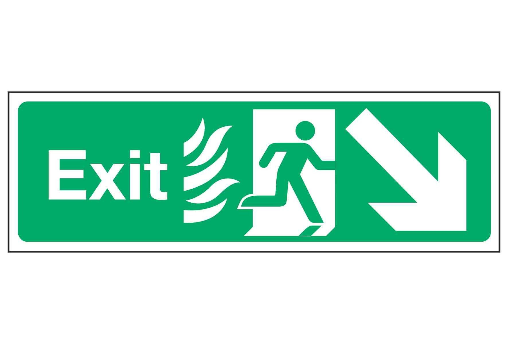 Exit / Arrow Down Right - NHS