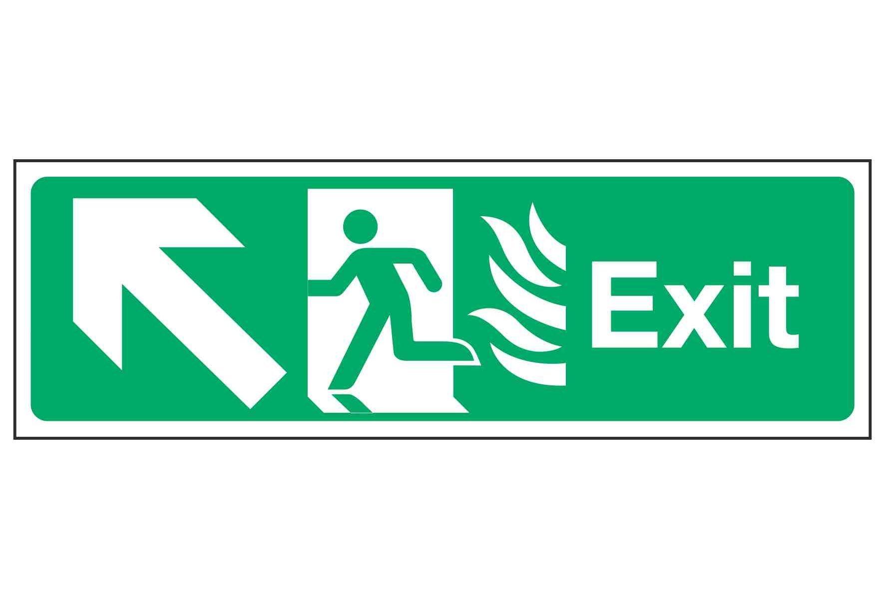 Exit / Arrow Up Left - NHS