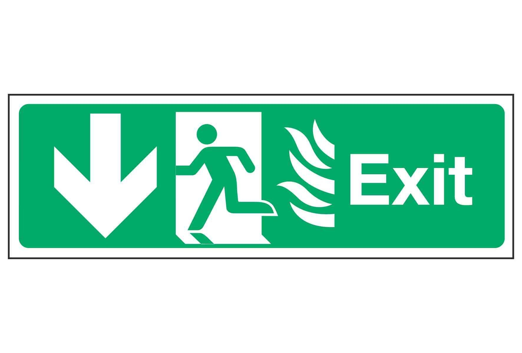 Exit / Running Man Left / Arrow Down - NHS