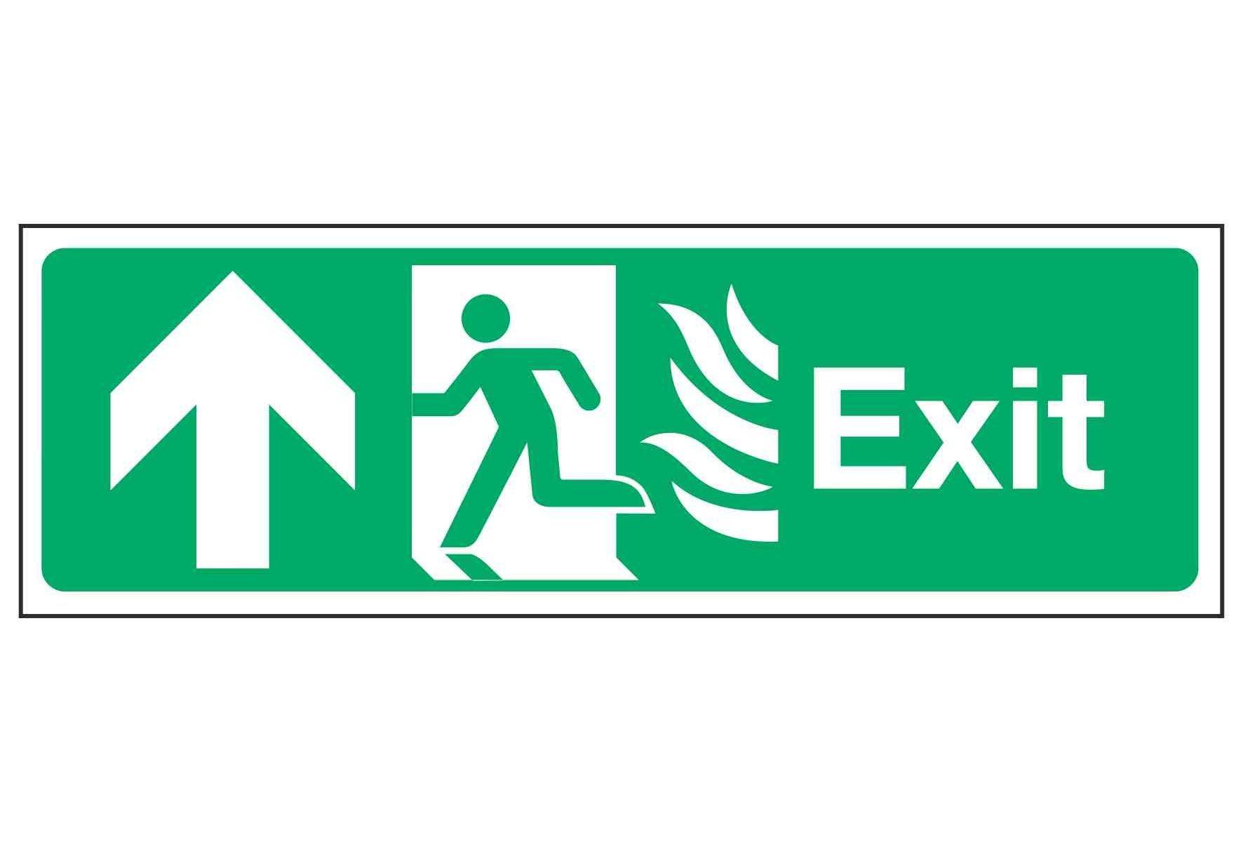 Exit / Running Man Left / Arrow Up - NHS