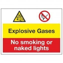 Explosive Gases / No smoking or naked lights