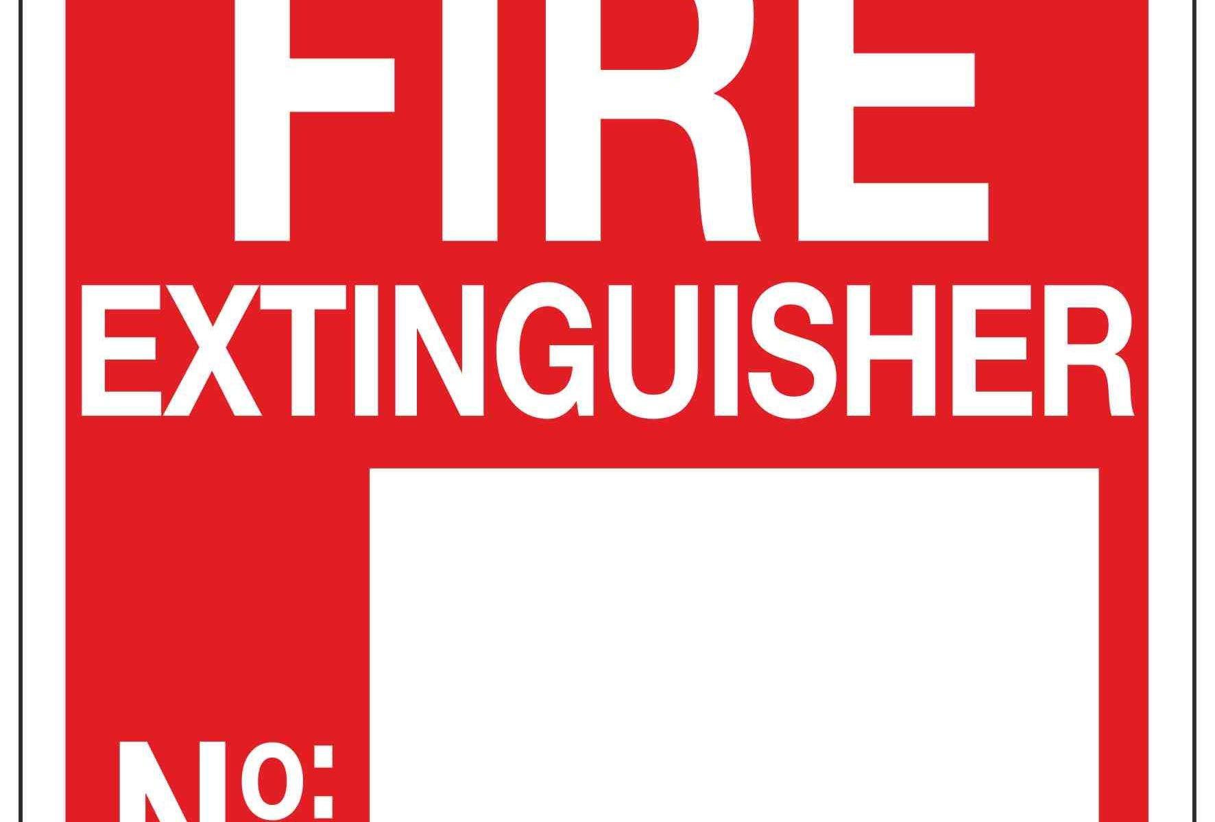 FIRE EXTINGUISHER No.