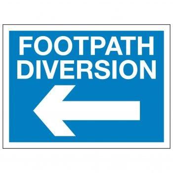 FOOTPATH DIVERSION (Left arrow)