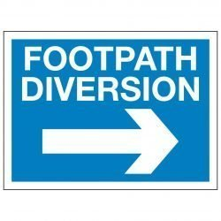 FOOTPATH DIVERSION (Right arrow)