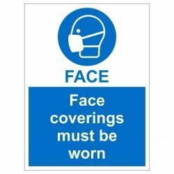 Face coverings must be worn