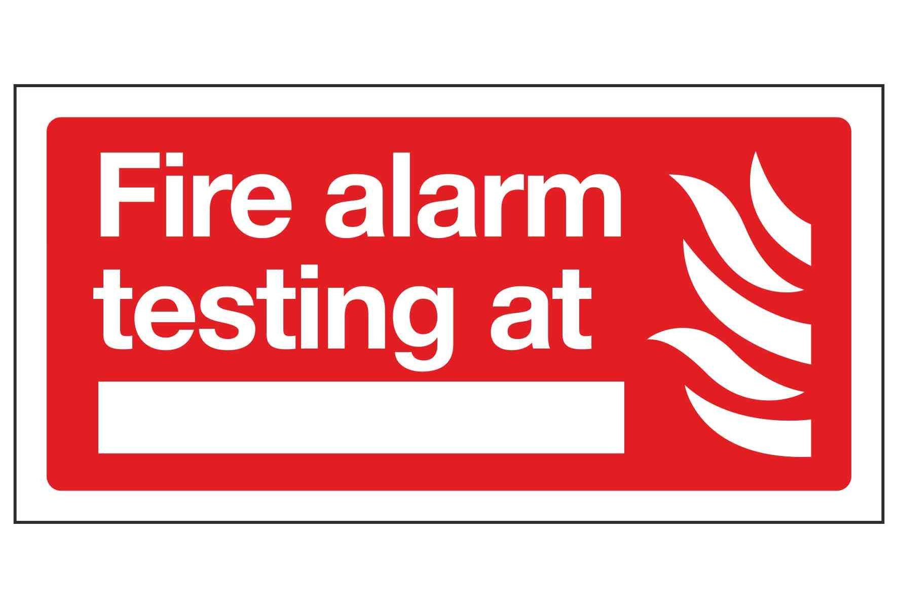 Fire alarm testing at -