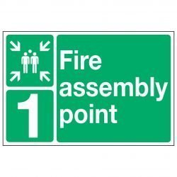 Fire assembly point (+ Optional number or letter)