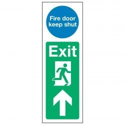 Fire door keep shut / Exit Arrow Up