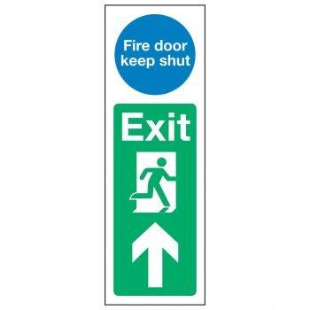 Fire door keep shut / Exit Arrow Up