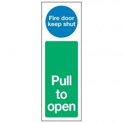 Fire door keep shut / Pull to open