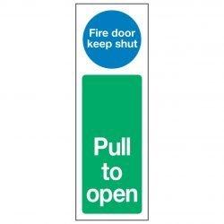 Fire door keep shut / Pull to open
