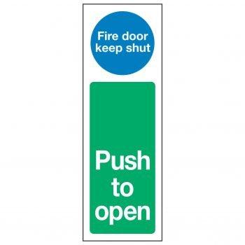 Fire door keep shut / Push to open