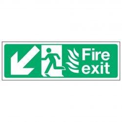 Fire exit / Arrow Down Left - NHS