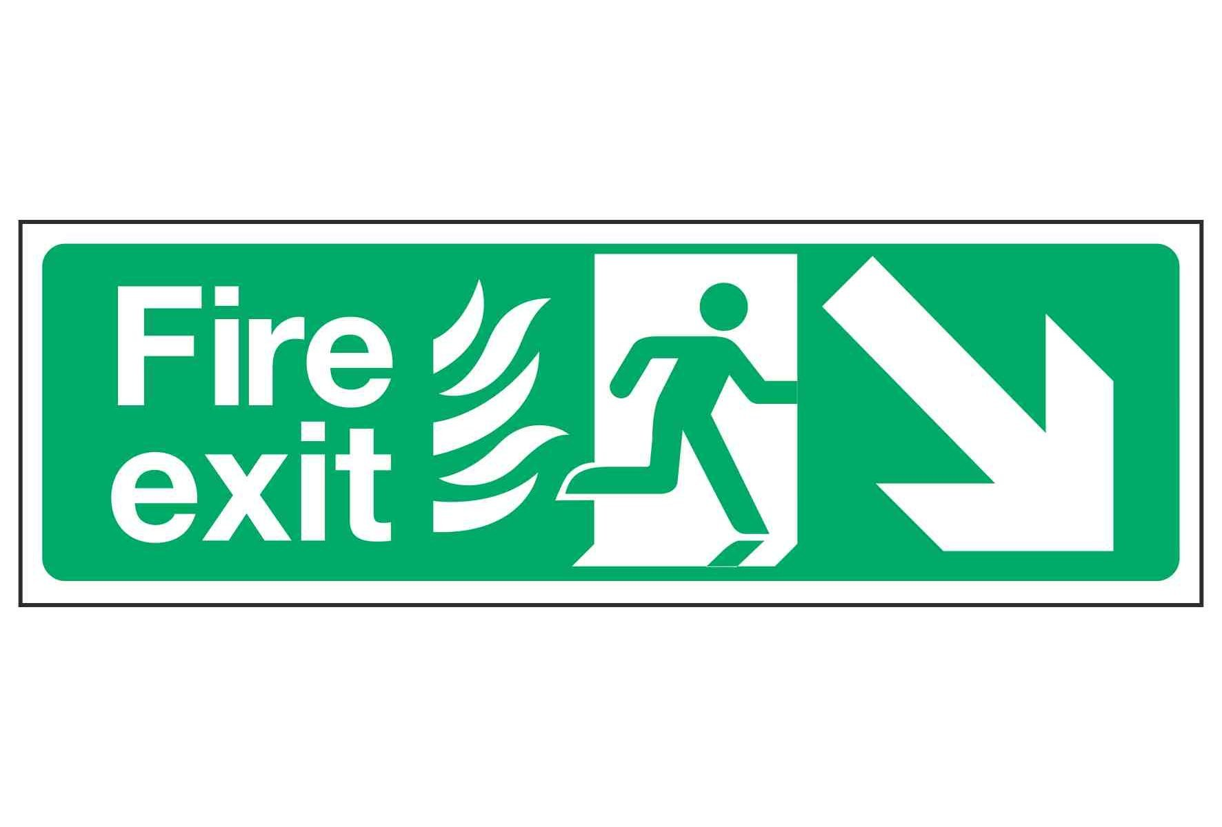 Fire exit / Arrow Down Right - NHS