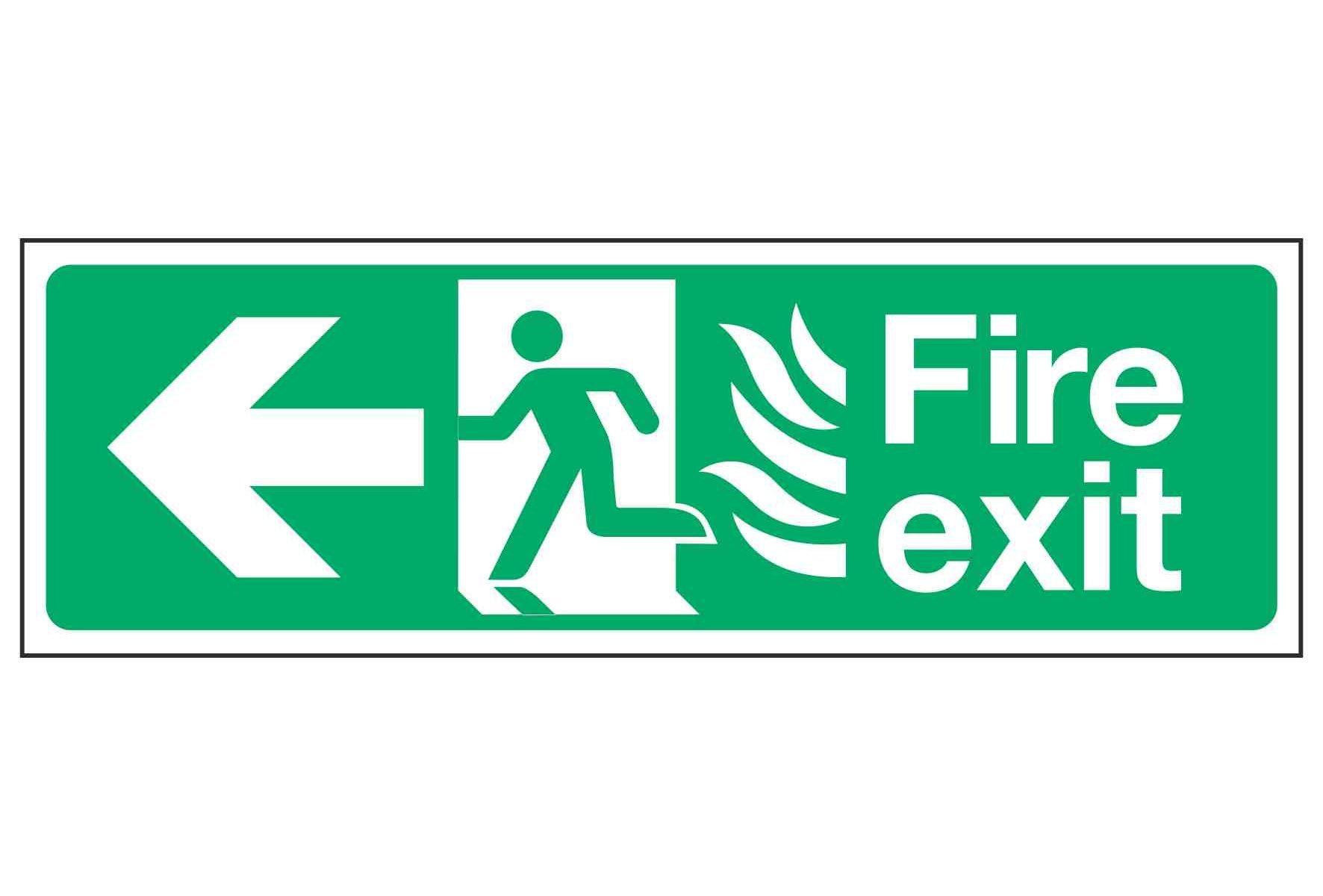Fire exit / Arrow Left / NHS