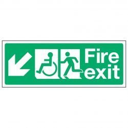 Fire exit / Disabled (Arrow down left)