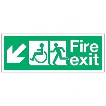 Fire exit / Disabled (Arrow down left)