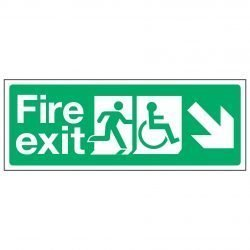 Fire exit / Disabled (Arrow down right)