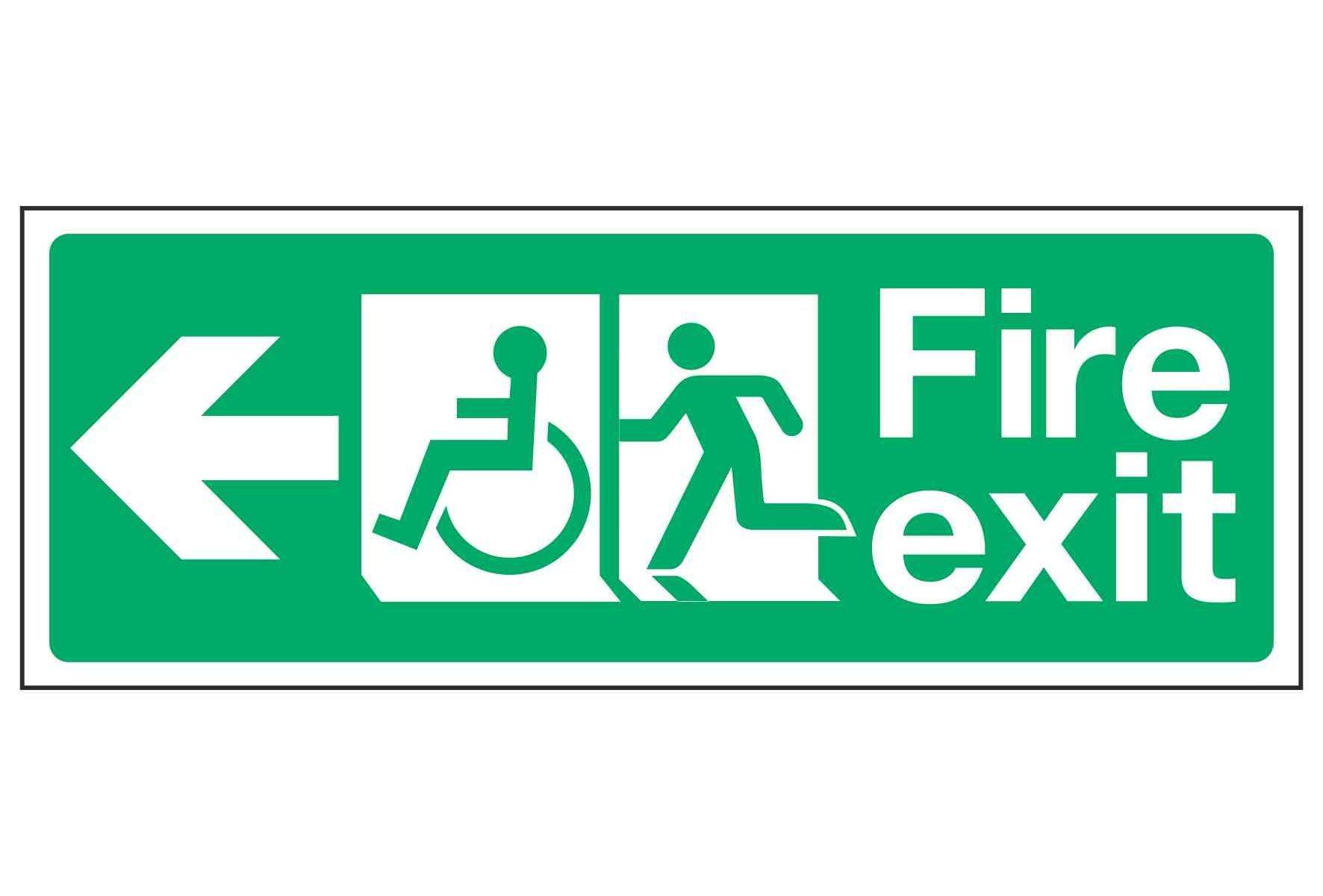 Fire exit / Disabled (Arrow left)