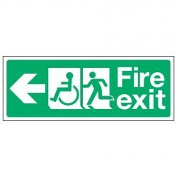 Fire exit / Disabled (Arrow left)