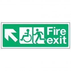 Fire exit / Disabled (Arrow left up)