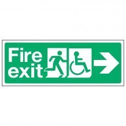 Fire exit / Disabled / Arrow right