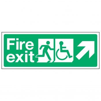 Fire exit / Disabled / Arrow Right Up