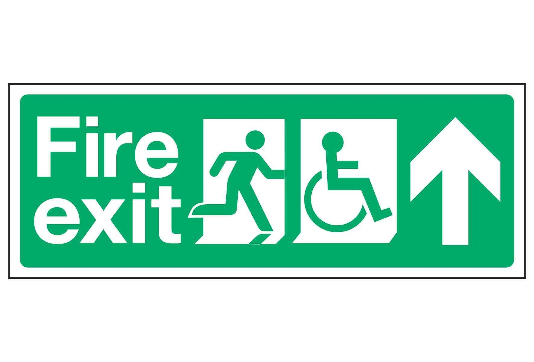Fire exit / Disabled (Arrow Up)