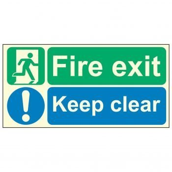 Fire exit / Keep clear PL
