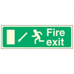 Fire exit / Running Man Left / Arrow Down Left - EEC 92/58 PL
