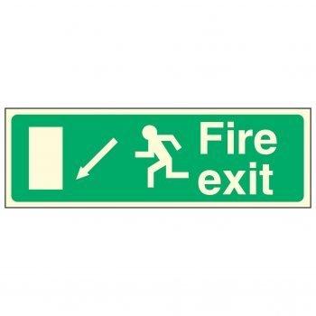 Fire exit / Running Man Left / Arrow Down Left - EEC 92/58 PL