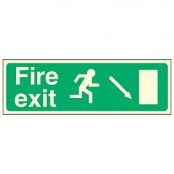 Fire exit / Running Man Right / Arrow Down Right - EEC 92/58 PL