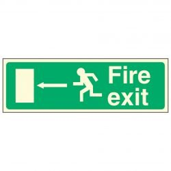 Fire exit / Running Man Left / Arrow Left - EEC 92/58 PL