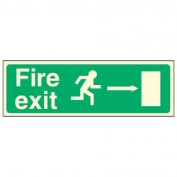 Fire exit / Running Man Right / Arrow Right - EEC 92/58 PL
