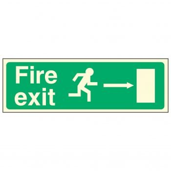 Fire exit / Running Man Right / Arrow Right - EEC 92/58 PL