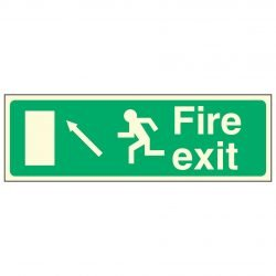 Fire exit / Running Man Left / Arrow Up Left - EEC 92/58 PL