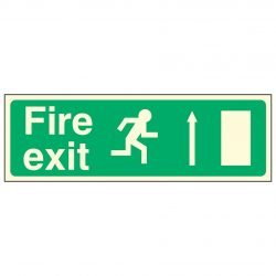 Fire exit / Running Man Right / Arrow Up - EEC 92/58 PL