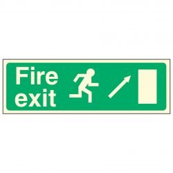 Fire exit / Running Man Right / Arrow Up Right - EEC 92/58 PL