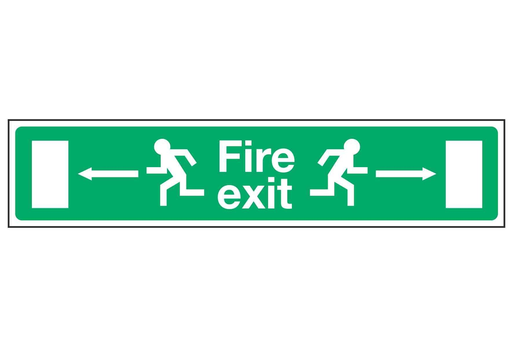 Fire exit / Running Man / Arrows Left and Right - EEC 92/58