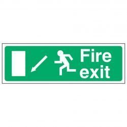 Fire exit / Running Man Left / Arrow Down Left - EEC 92/58