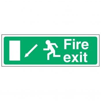 Fire exit / Running Man Left / Arrow Down Left - EEC 92/58