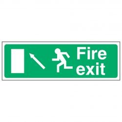 Fire exit / Running Man Left / Arrow Up Left - EEC 92/58