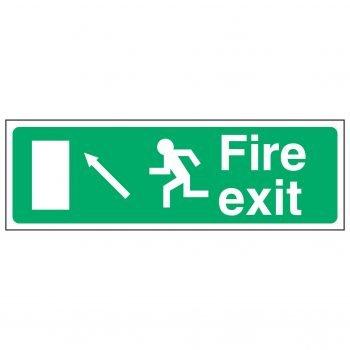 Fire exit / Running Man Left / Arrow Up Left - EEC 92/58