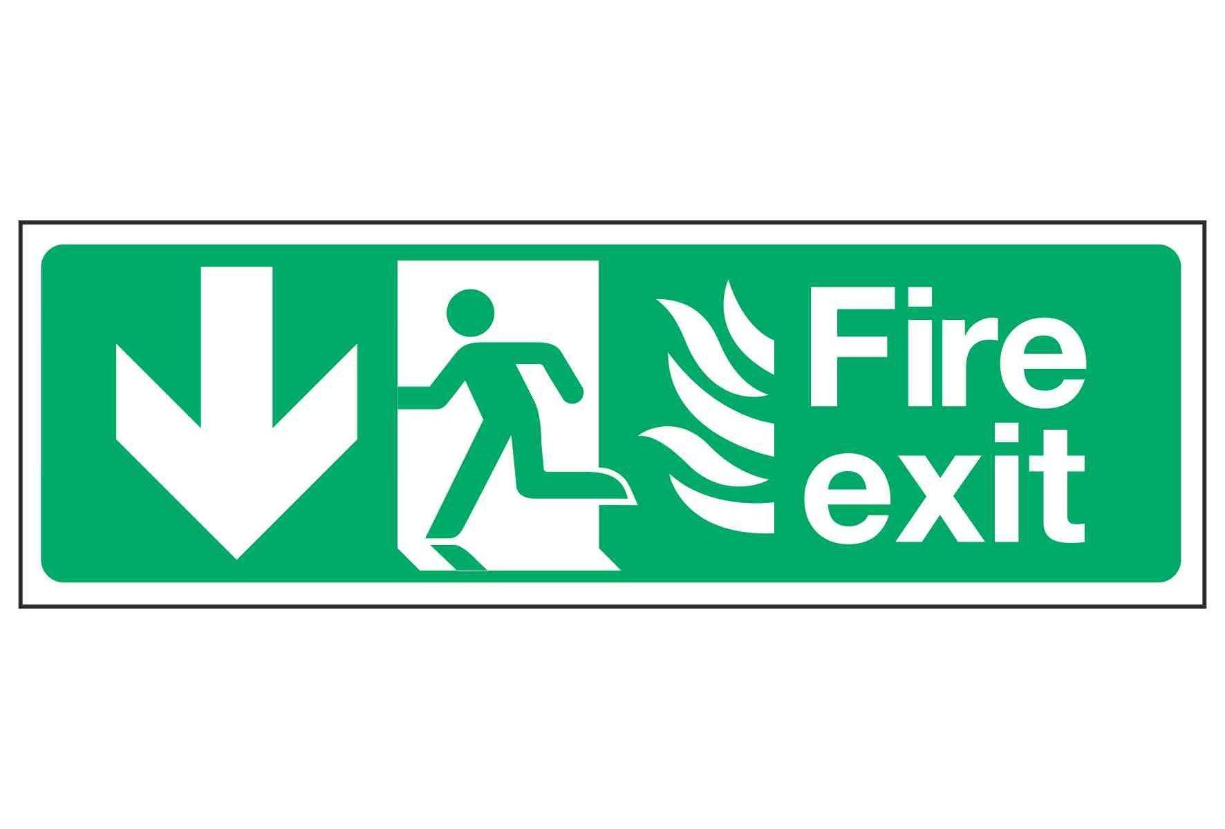 Fire exit / Running Man Left / Arrow Down - NHS