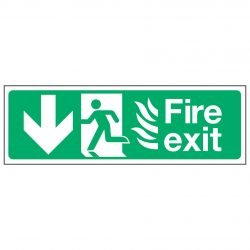 Fire exit / Running Man Left / Arrow Down - NHS