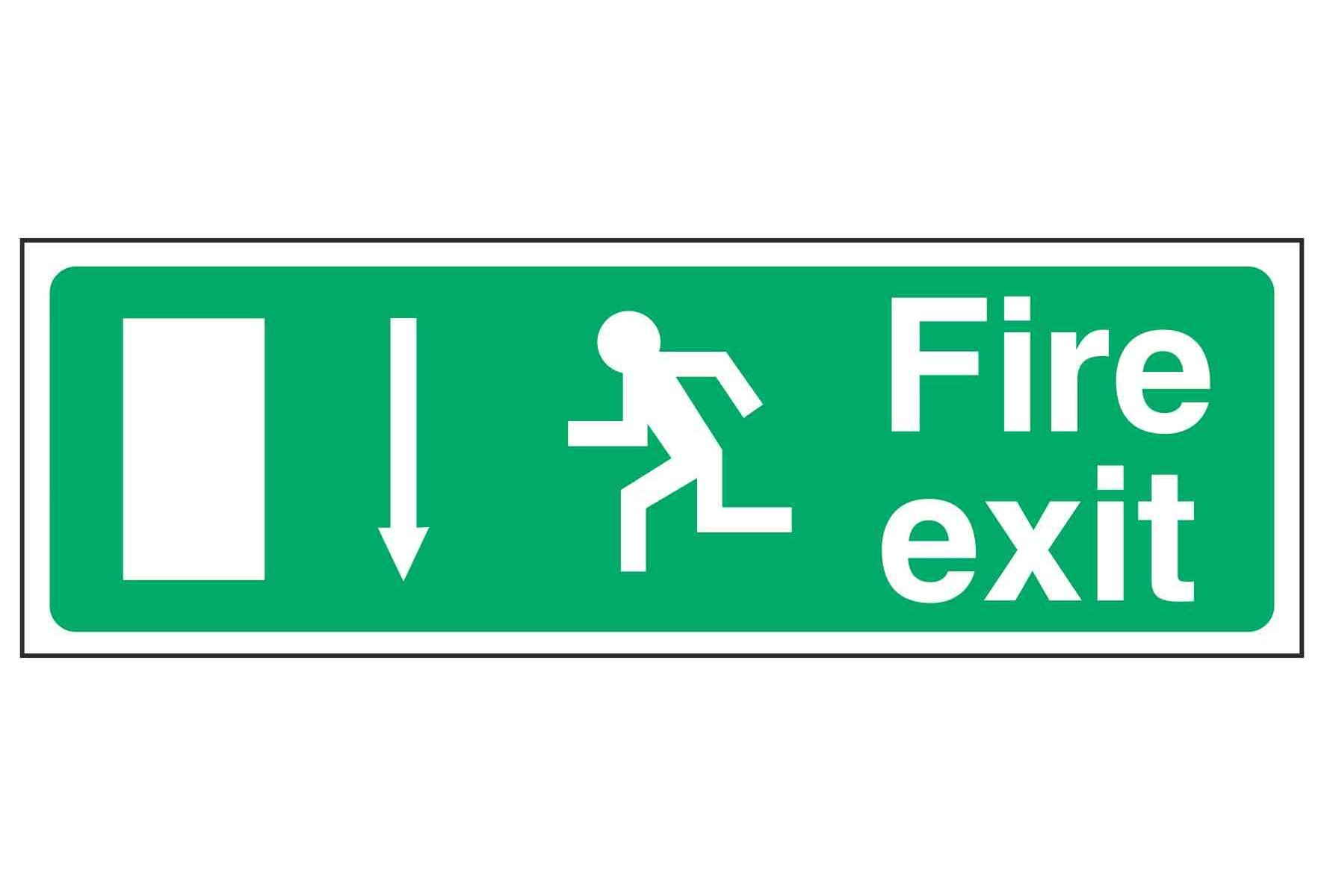 Fire exit / Running Man Left / Arrow Down - EEC 92/58