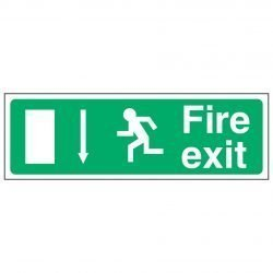 Fire exit / Running Man Left / Arrow Down - EEC 92/58