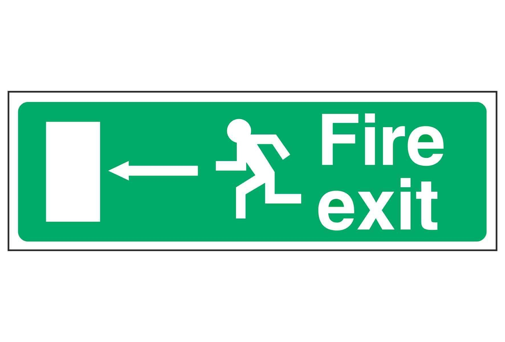 Fire exit / Running Man Left / Arrow Left - EEC 92/58