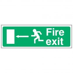 Fire exit / Running Man Left / Arrow Left - EEC 92/58