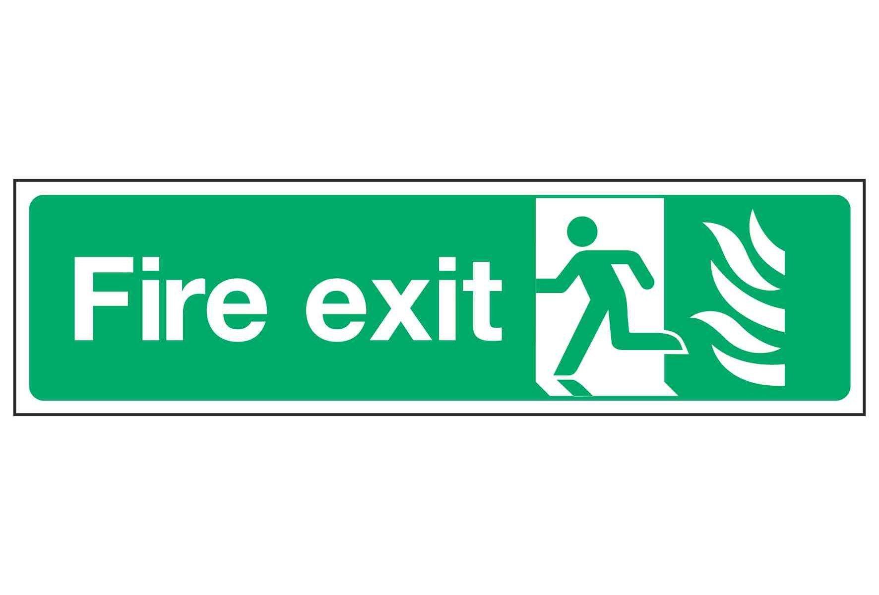 Fire exit / Running Man Left - NHS